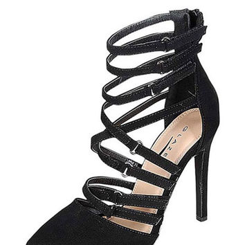 Midnight Magic Strappy Pump - Black - FINAL SALE