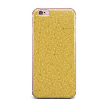 "Michelle Drew ""Wanderlust Hazy Skies"" Yellow Geometric iPhone Case"
