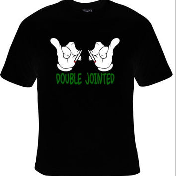 double jointed cartoons hands ,comedy t-shirt cool funny t-shirts gift present humor tee shirt