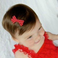 Popular mini baby girl hair bows - Shop Your Final Touch for saddle stitch hair clips. Newborn- Girls- Toddlers