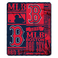 Boston Red Sox MLB Light Weight Fleece Blanket (Strength Series) (50inx60in)