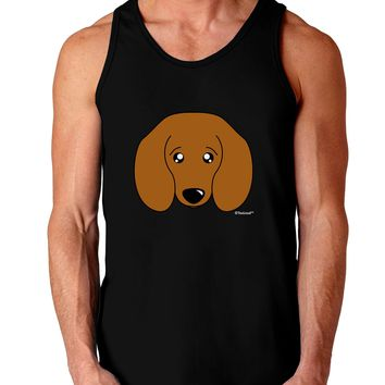 Cute Doxie Dachshund Dog Dark Loose Tank Top  by TooLoud