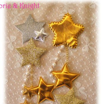 Japanese Harajuku Sweet Lolita Gold/Silver Star Hairpin Hair Clip Kawaii Girls Pendant Jewelry/Stars Headwear
