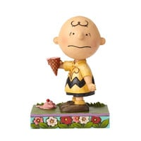 Jim Shore Peanuts Charlie Brown with Ice Cream Resin Figurine New with Box