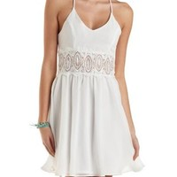 Crochet Waist Skater Dress by Charlotte Russe