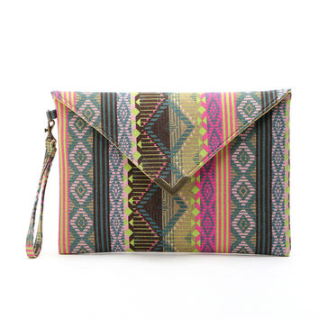 Brand new Women Envelope Clutch Handbag Purse Tote Ladies Canvas Embroided Bag 1 pcs