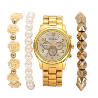 Gift Great Deal Stylish Hot Sale Awesome Shiny New Arrival Ladies Watch Accessory Fashion Quartz Gold Bracelet [6542566147]