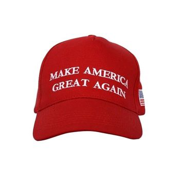 Trump President Make America Great Again MAGA Baseball Cap Hat RED Flag Classic