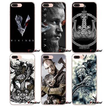 Vikings Ragnar Lothbrok Logo Soft TPU Case For Apple iPhone X 4 4S 5 5S SE 5C 6 6S 7 8 Plus 6Plus 7plus 8plus Fundas Coque