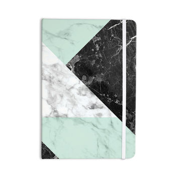 "KESS Original ""Geo Marble and Mint"" Black Art Deco Everything Notebook"