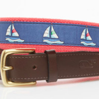 Vineyard Vines Regatta Belt- Vineyard Navy