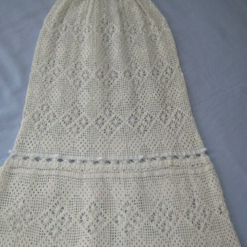Antique Reproduction Christening Dress Heirloom Hand Crocheted
