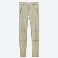 SKINNY MID-RISE TROUSERS