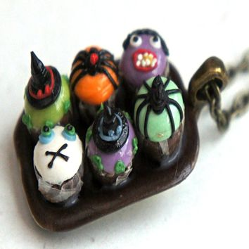 halloween cupcake sampler necklace