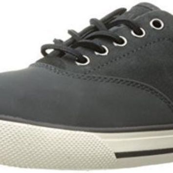CREYON Polo Ralph Lauren Men's Vaughn Saddle Sneaker, Grey, 9.5 D US