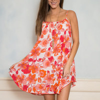 Floral Days Are Here Tank Dress, Coral