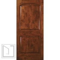 Slab Home Interior Single Door 80 Knotty Alder 2 Panel Solid