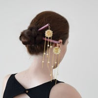 Enchanted magic- hair stick geisha japanese hair pin hair stick
