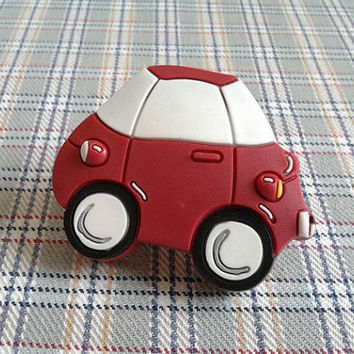 Kids Dresser Knobs Drawer Knobs Pulls Car Red White Black / Children Cartoon Knobs / Cabinet Handles Pull Knob / Baby Boys Girls Hardware