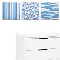 Sky Baby Boy Strips & Stripes 2 Canvas Print Set of 3