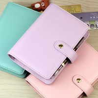 2016 A5 A6 Jamie Yiwi Faux Leather Snap 6 loose Leaf Planner Diary Notebook Match Kikki  filler pages