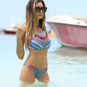 Summer Hot New Arrival Swimsuit Beach Sexy Patchwork Ladies Swimwear Bikini [9624658055]
