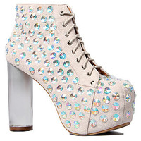 Jeffrey Campbell The Lita Jewel in Ivory Suede and Clear : Karmaloop.com - Global Concrete Culture