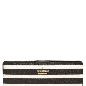 kate spade new york hawthorne lane stacy glitter & faux leather wallet | Nordstrom