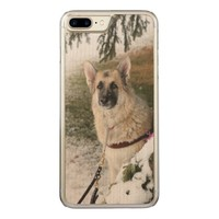 Happy puppy carved iPhone 7 plus case