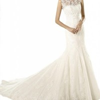 Gorgeous Bridal Customized Lace Mermaid Elegant Wedding Dresses Gowns Long- US Size 17W