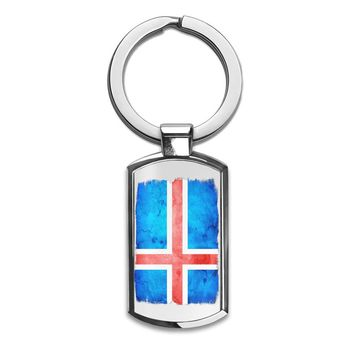 Iceland Flag Premium Stainless Steel Key Ring| Enjoy A Unique  & Personalized Key Hanger To Carry Your Keys W/ Style| Custom Quality Prints| Household Souvenirs By Styleart