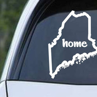 Maine Home State Outline ME - USA America Die Cut Vinyl Decal Sticker