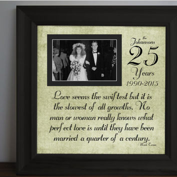Gifts For Parents 26th Wedding Anniversary : ... Century - Custom Anniversary Gift - Parent Anniversary Gift - 15x15