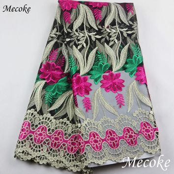 wathet African Laces Fabrics Embroidered nigerian Guipure French Lace Fabric High-quality 2017 African French Net Lace Fabric