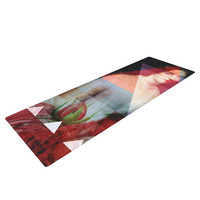 "Suzanne Carter ""Twins"" Red Blue Yoga Mat"