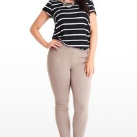 Plus Size Stem Wear Twill Zipper Pants | Fashion To Figure