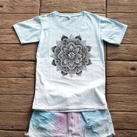 Lotus Ohm Tie dye Shirt Tye Dye Shirt Pastel Colorful Shirt Rainbow Shirt