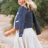 Bianca Gold and Navy Tweed Jacket