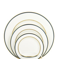 library lane navy five-piece place setting