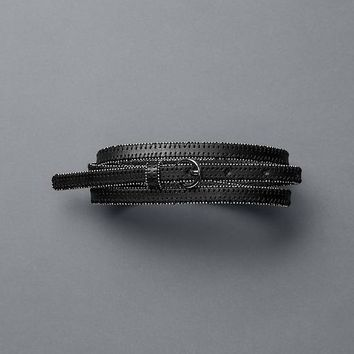 Gap Women Beaded Edge Leather Belt