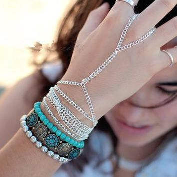 Fashion Simple Arm Chain Bracelet Multi-layer All-match Accessories