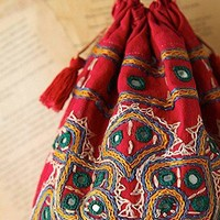 Free People  Vintage Embroidered Drawstring Bag at Free People Clothing Boutique