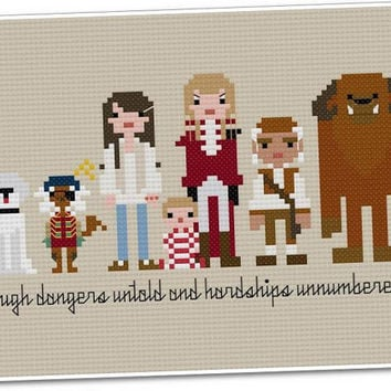 Pixel People - Labyrinth - PDF Cross Stitch PATTERN