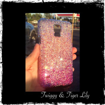 Pink Swarovski Crystal Fade Samsung Galaxy OR iPhone 5/5s bling case - Crystal Rhinestone Fade Case