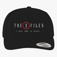 The X Files I Still Want To Believe  Brushed Embroidered Cotton Twill Hat