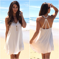 Trio Shift Dress In Cream