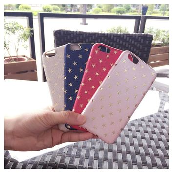 New Star Silk Leather Selfie Fundas Soft TPU Fad Case Back Cover For iPhone X 5 SE 5s 6 6S 7 8 Plus Slim Mobile Phone Shell Capa