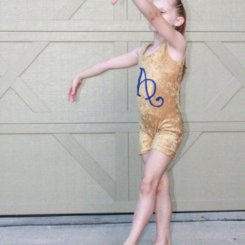 Gold Gymnastics Unitard 2,3,4,5,6,7,8,9,10,11,12,13,14,