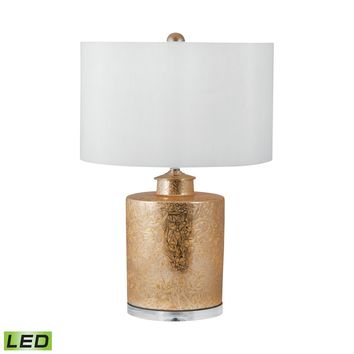 251-LED Glam Ceramic Cylinder LED Table Lamp