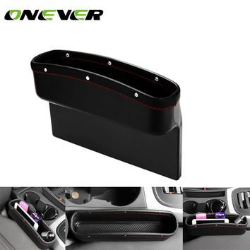PU Leather Car Seat Crevice Storage Box Seat Gap Pocket Holder Storage Pouch Phone Purse Coins Key Car Seat Organizer